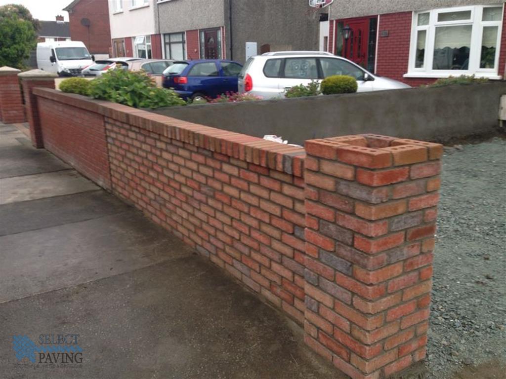 Brickwork or fencing select paving kildare for Garden design kildare